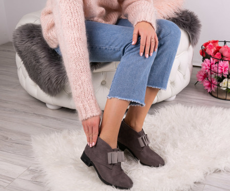 Seanna gray suede boots - Footwear